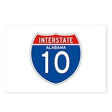 Interstate 10 - AL Postcards (Package of 8)