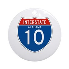 Interstate 10 - AL Ornament (Round)