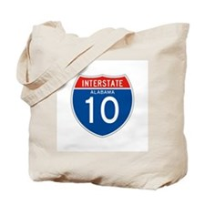 Interstate 10 - AL Tote Bag
