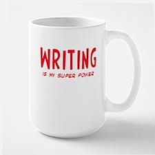 Super Power: Writing Large Mug