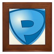 Super P Super Hero Design Framed Tile