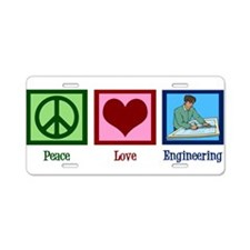 Peace Love Engineering Aluminum License Plate