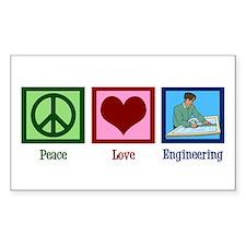 Peace Love Engineering Decal