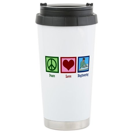 Peace Love Engineering Stainless Steel Travel Mug