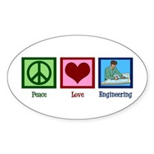 Peace Love Engineering Decal