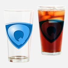 Super Q Super Hero Design Drinking Glass