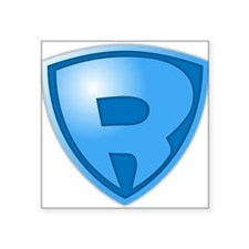 Super R Super Hero Design Sticker