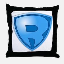 Super R Super Hero Design Throw Pillow