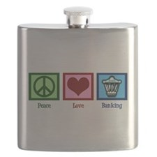 Peace Love Banking Flask
