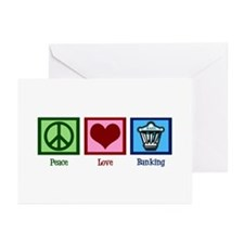 Peace Love Banking Greeting Cards (Pk of 10)