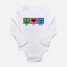 Peace Love Banking Long Sleeve Infant Bodysuit
