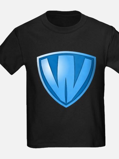 Super W Super Hero Design T-Shirt