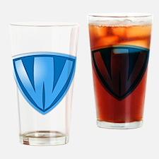 Super W Super Hero Design Drinking Glass