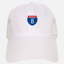 Interstate 8 - CA Baseball Baseball Cap