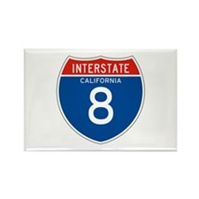 Interstate 8 - CA Rectangle Magnet (100 pack)