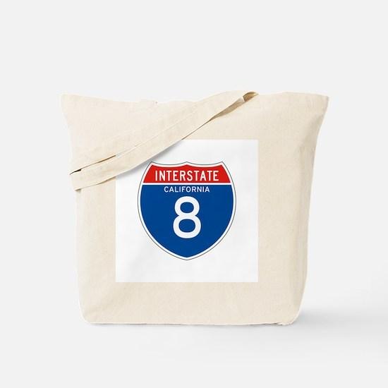 Interstate 8 - CA Tote Bag
