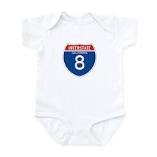 Interstate 8 - CA Infant Bodysuit