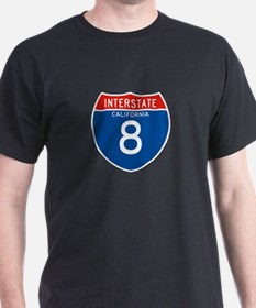 Interstate 8 - CA T-Shirt