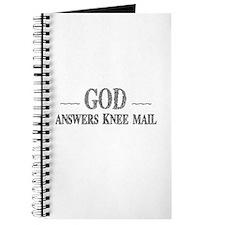 God Answers Knee Mail Journal