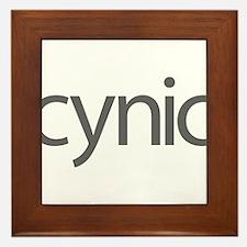 Cynics Unite Framed Tile
