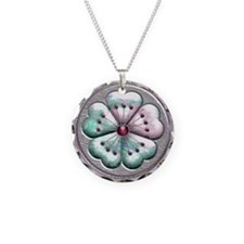 Harvest Moons Pastel Asian Pansy Necklace