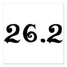 """26.2 Marathon Square Car Magnet 3"""" x 3"""""""
