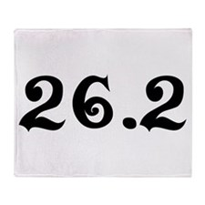 26.2 Marathon Throw Blanket