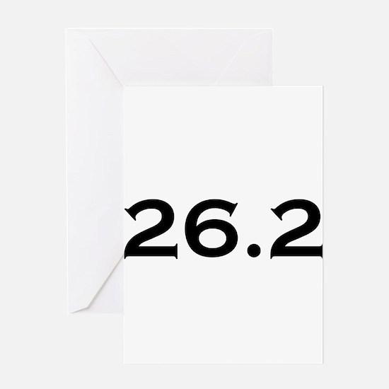 26.2 Marathon Greeting Card