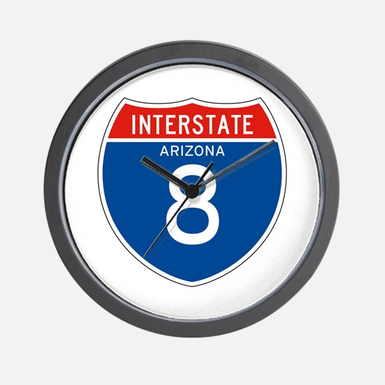 Interstate 8 - AZ Wall Clock