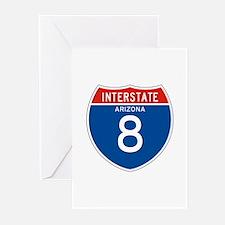 Interstate 8 - AZ Greeting Cards (Pk of 10)