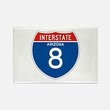 Interstate 8 - AZ Rectangle Magnet
