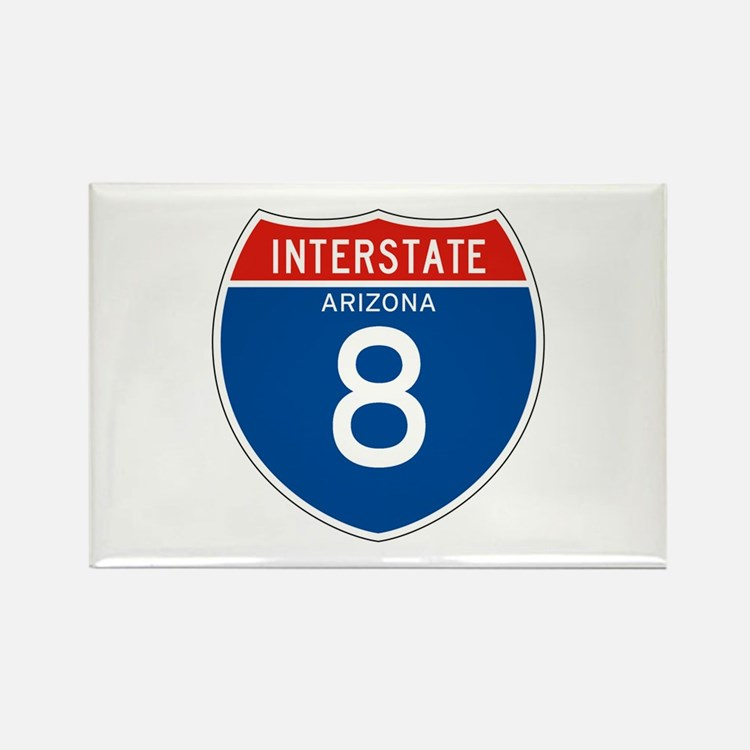 Interstate 8 - AZ Rectangle Magnet