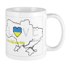 Ukraine map - one child at a time Small Mug