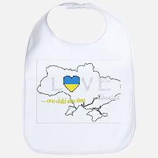 Ukraine map - one child at a time Bib
