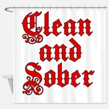 CleanSober Shower Curtain
