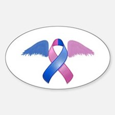 Miscarriage Awareness Ribbon with Wings Decal