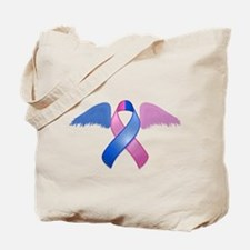 Miscarriage Awareness Ribbon with Wings Tote Bag