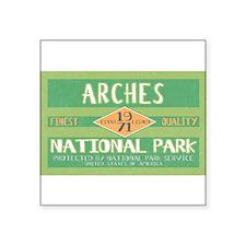 Arches National Park (Retro) Rectangle Sticker