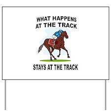 HORSE RACING Yard Sign