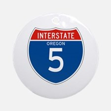 Interstate 5 - OR Ornament (Round)