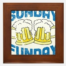 Sunday Funday Vintage Framed Tile