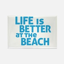 Life Is Better At The Beach Rectangle Magnet