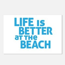 Life Is Better At The Beach Postcards (Package of