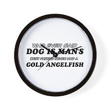 Gold Angelfish Designs Wall Clock