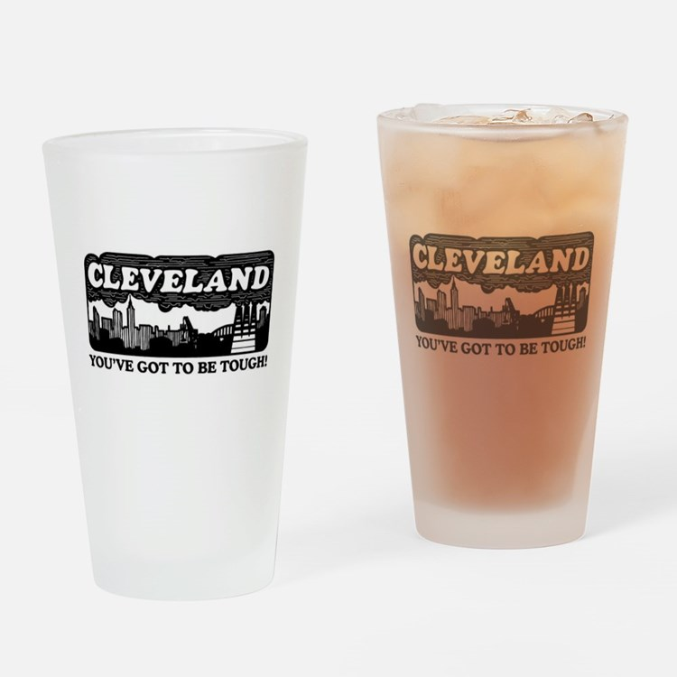 Cleveland Browns Frosted Pint Glass
