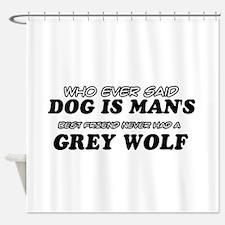 Grey Wolf Designs Shower Curtain