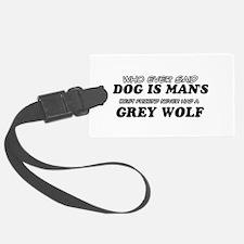 Grey Wolf Designs Luggage Tag