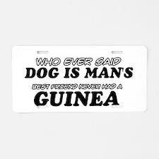 Guinea Designs Aluminum License Plate