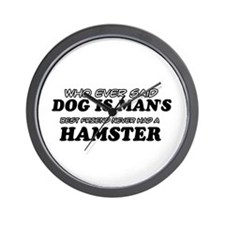 Hamster Designs Wall Clock