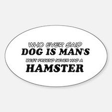 Hamster Designs Sticker (Oval)